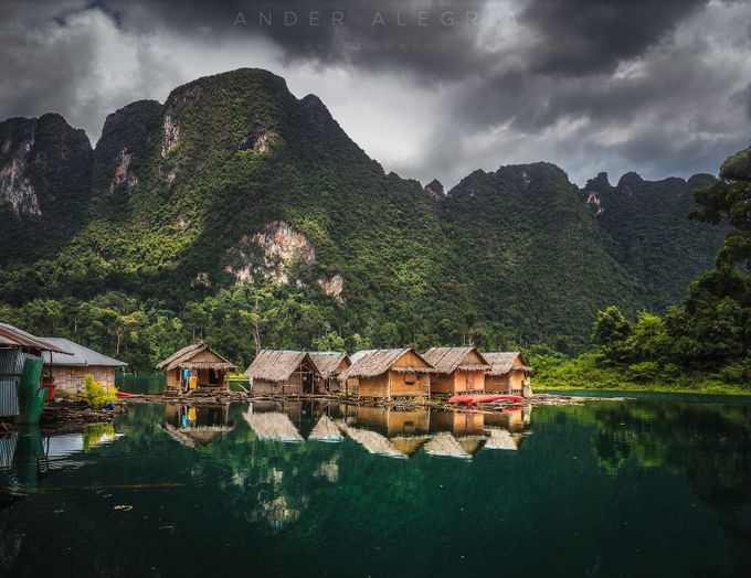 Raft Houses at Khao Sok by ander_alegria - Spectacular Lakes Photo Contest