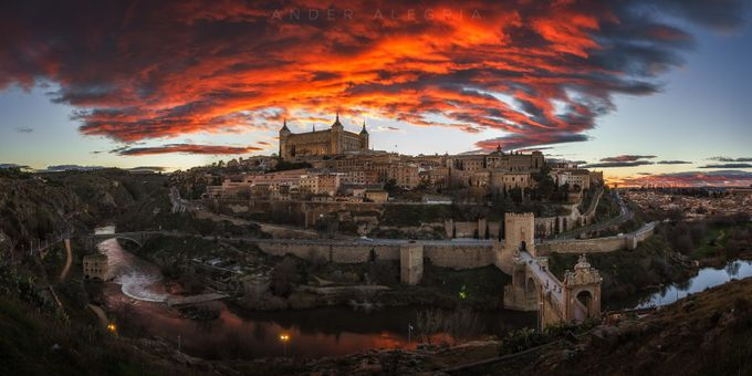Toledo Under a Red Sky by ander_alegria - Europe Photo Contest