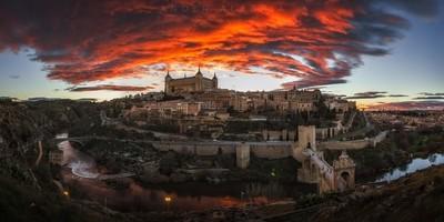 Toledo Under a Red Sky