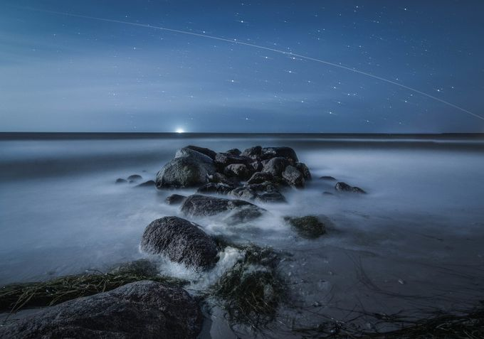 ISS over Enø beach by mbernholdt - Creative Landscapes Photo Contest