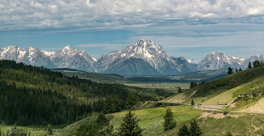 Went to the Tetons in Wyoming which was on my bucket list.  This is the view from the road and we...