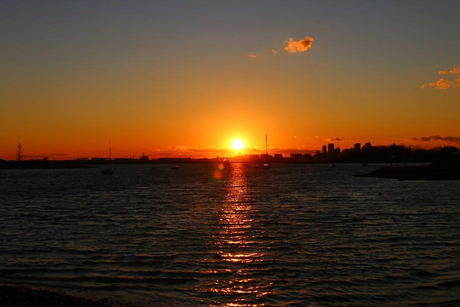Winthrop Harbor/ Boston Skyline
