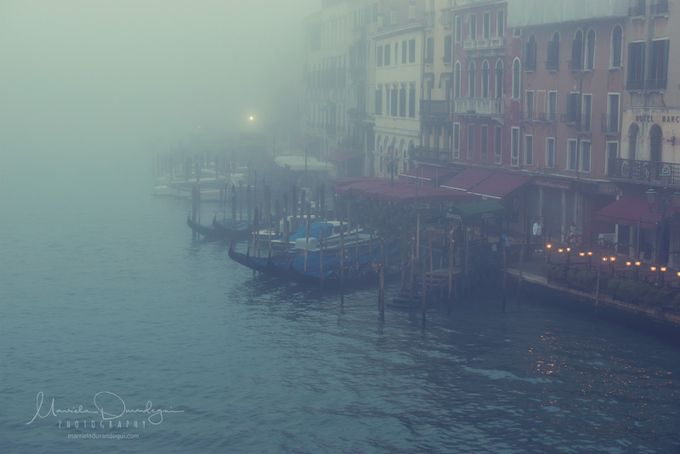 Gondolas In the Mist by marrieladurandegui - Fog And City Photo Contest