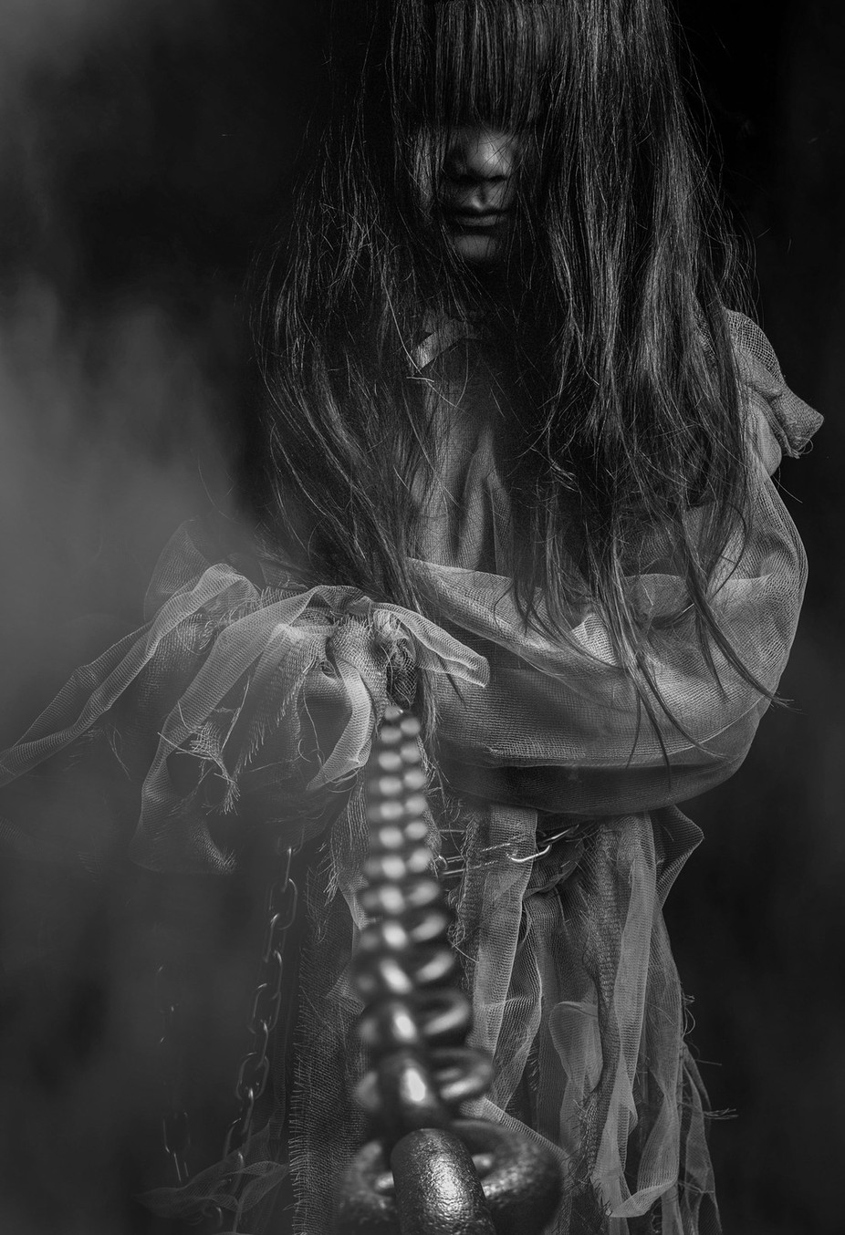 IMG_9626b bw by mikitabatasauce - Halloween Photo Contest 2017