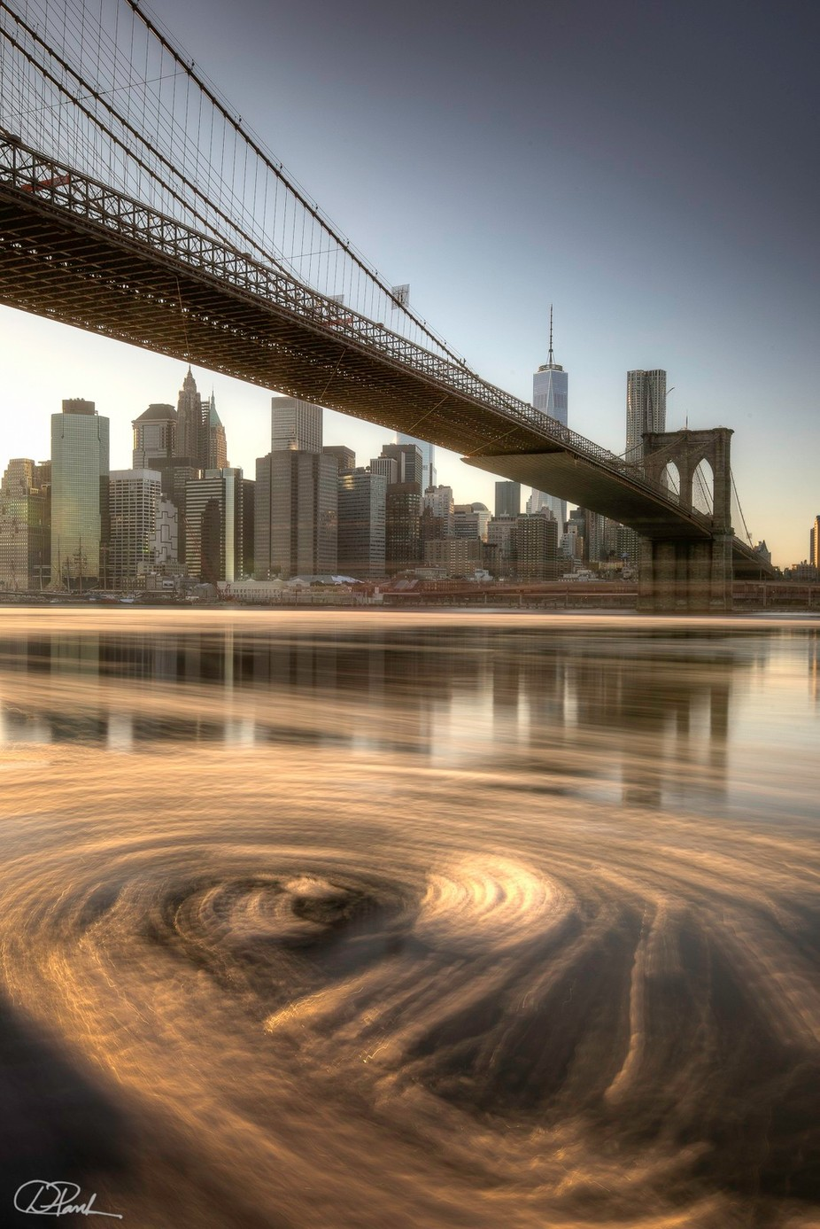 Brooklyn Bridge Ice Flow by danpark - Composition And Leading Lines Photo Contest