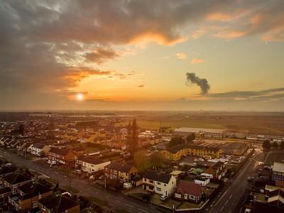 Drone photo over Scunthorpe UK