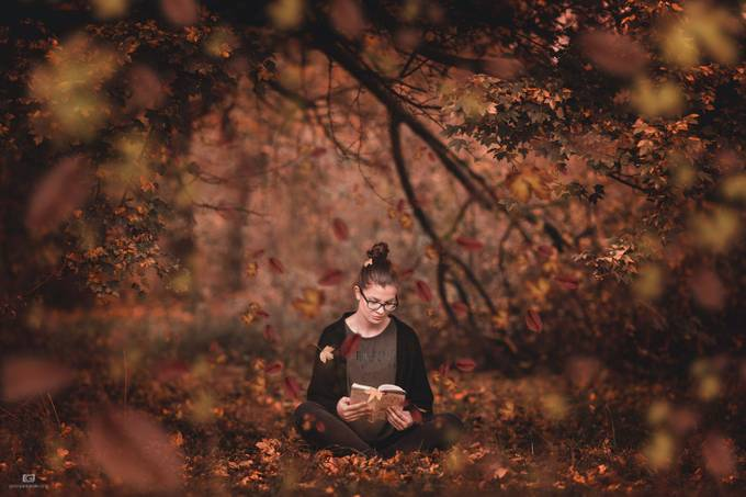 Autumn girl by Jordanac - Letters And Words Photo Contest