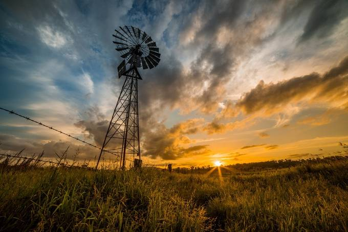Sunset on the plains by DanMarshall91 - Windmills Photo Contest