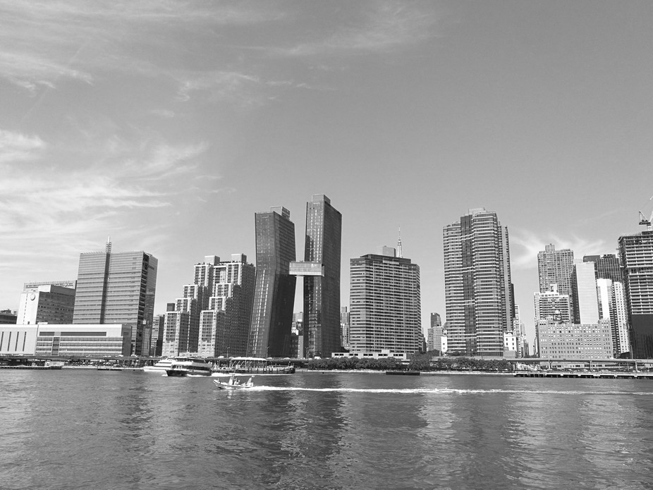 Black and White City View