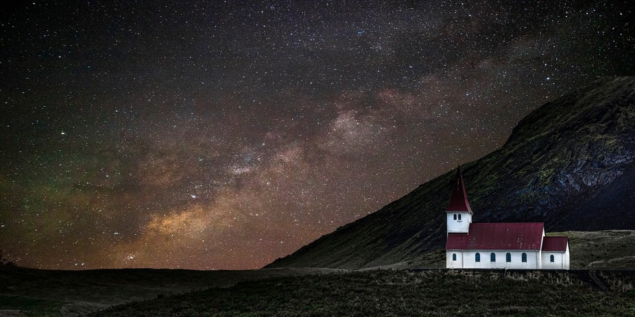 Vik Church_Iceland_night