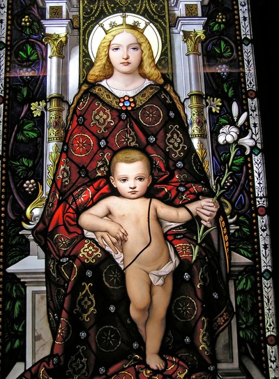 Mary and the child Jesus