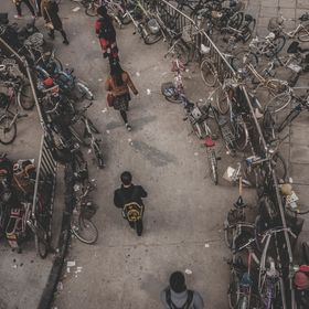 STAGS OF BIKES MAKE LOOK LIKE MODERN CITY TURNING IN TO SLUMS