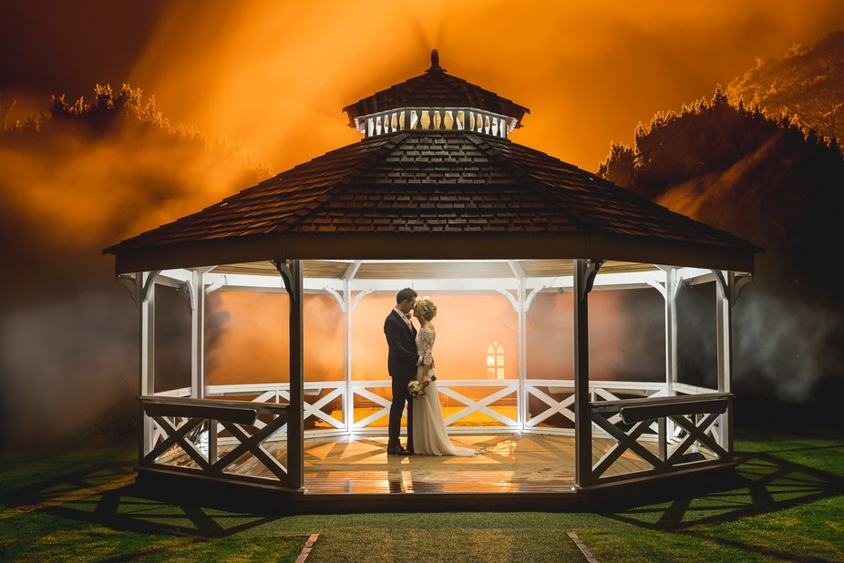 This shot was created using a smoke grenade and a number of speedlites and was one of the last sh...