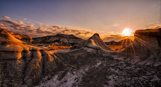 sunrise on Dinosaur Provincial Park, Alberta, Canada by weirfang - Flares 101 Photo Contest