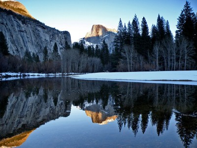Half Dome and Friend Reflections