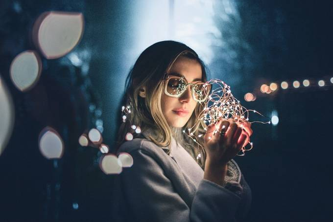 Ani by aleksandralemke - Holiday Lights Photo Contest 2017