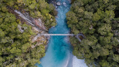 Bluepools Swing Bridge Aerial