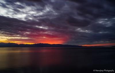 Rainbow color sunset