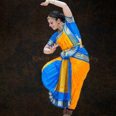 Sarah dancing Bharata natyam