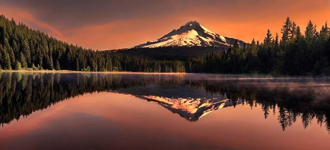 Mount hood reflection by maityk - Lakes And Reflections Photo Contest