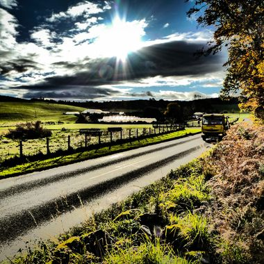 The A939 south of Nairn in November.