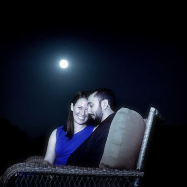 Midnight Blue.  The night before they will marry.