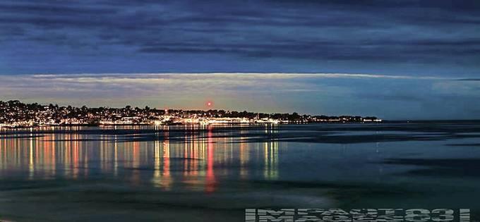 Twilight landscape of Monterey Peninsula