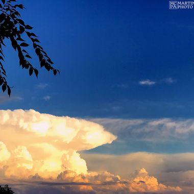 A thunderhead brewing over the Colorado plains