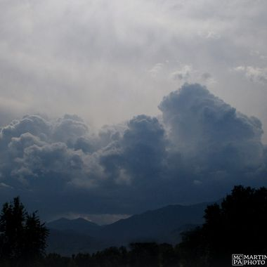 Clouds building over the Front Range, Colorado Springs, Colorado