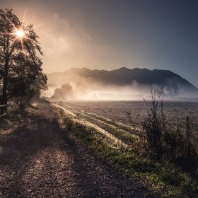 I took this shot in October during a wonderful foggy sunrise in northern Italy.
