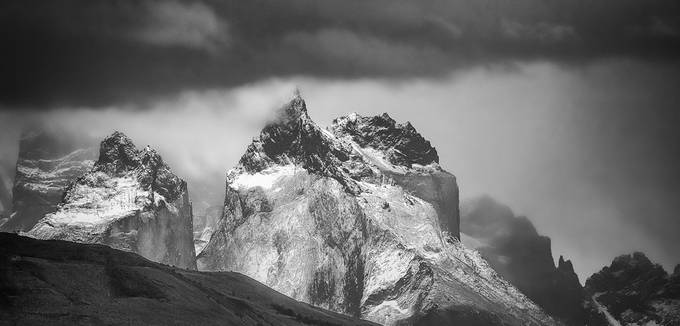 BW peaks by Andre11 - Black And White Mountain Peaks Photo Contest