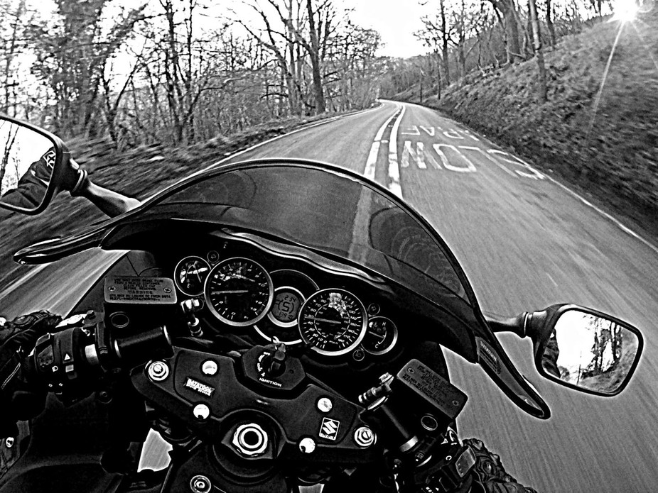 chest cam shot on one of my many favourite roads in the Brecon Beacons National Park
