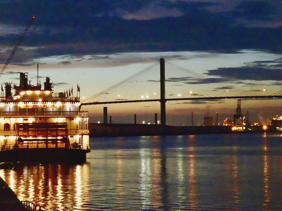 Sunset and the Talmadge Memorial Bridge