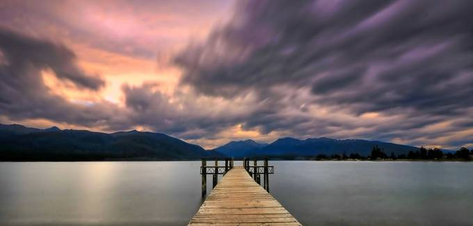 Te Anau Pier by jomyjose - The Moving Clouds Photo Contest