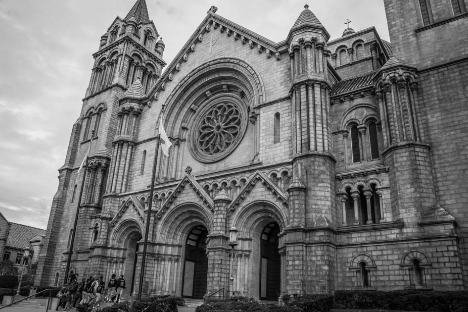 Cathedral Basillica B&W