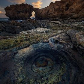 Here in Southern California is a spot called Arch Rock near Little Corona Del Mar beach, a spot that is for most only accessible during low tide ...