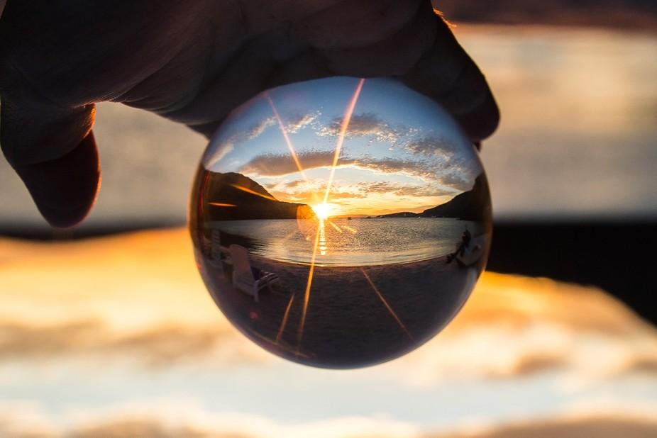 camp sunset2270 lensball
