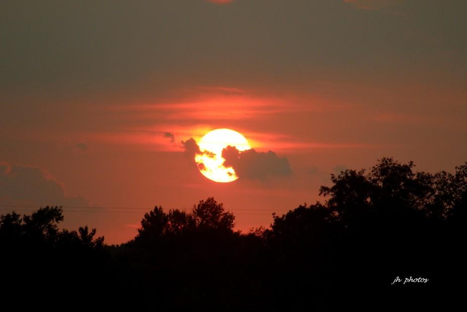 Sunset on a summer night