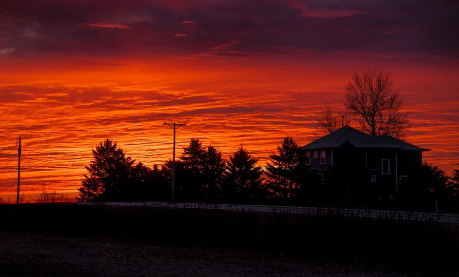 Iowa Farmer's Sunrise