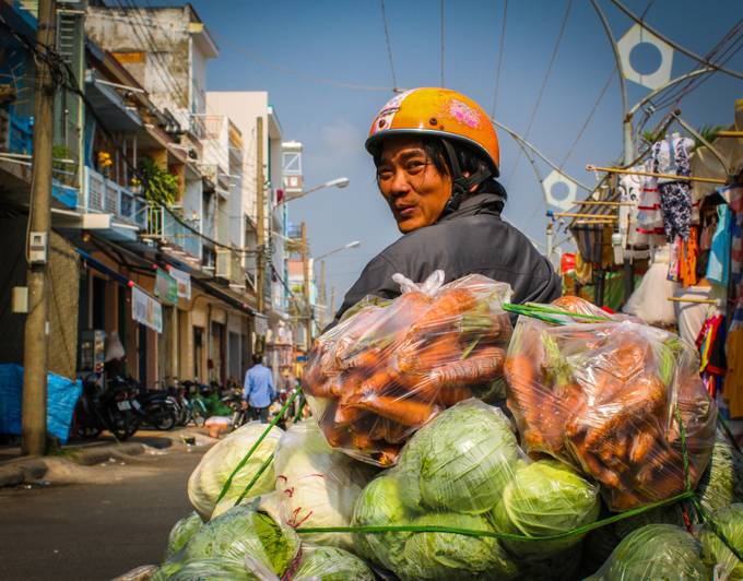 Vegetables Man by olivierfaure - Food Markets Photo Contest