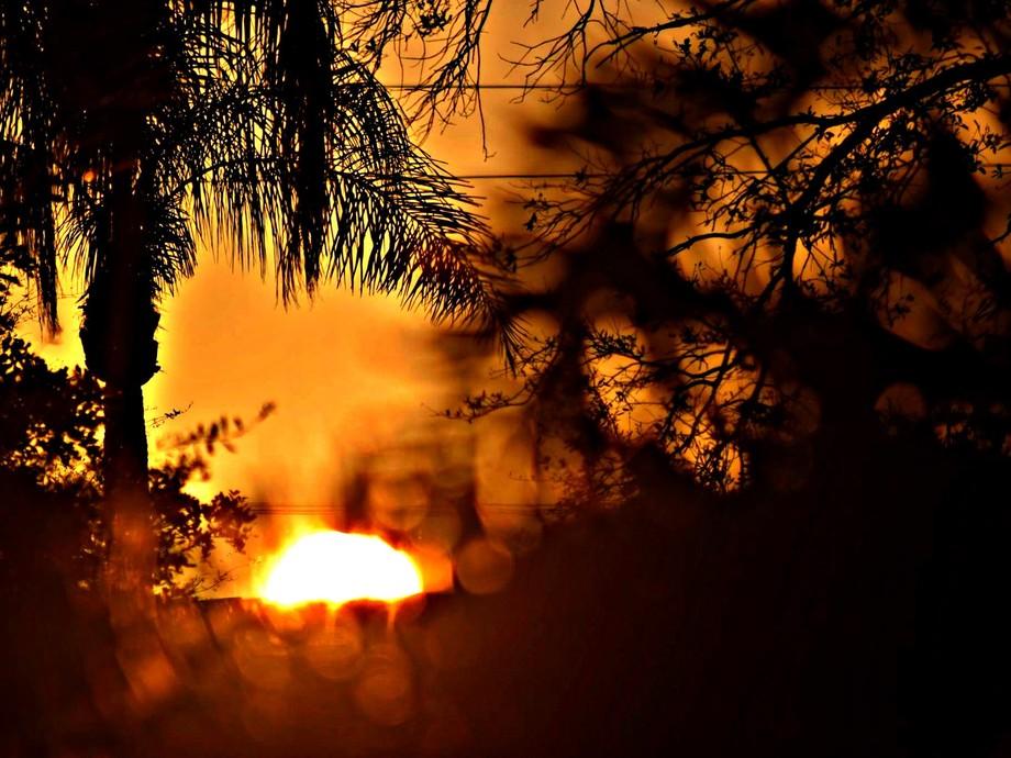 sunrise and sun spots