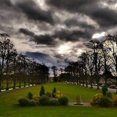 Forres Grumpy skies by the Mossett Burn
