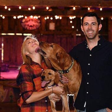 Gotta love dogs! Photo taken at the dancehall in Luckenbach, TX