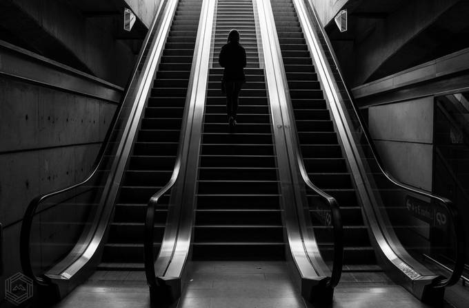 Out into the light by FlatMat - Public Transport Hubs Photo Contest