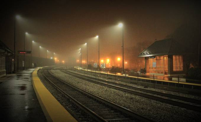 Metra Stop on Narragansatt by inesgardea - Fog And City Photo Contest