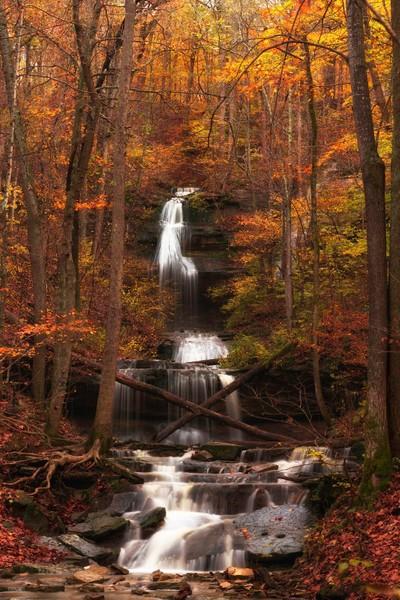 Tioga Falls in Autumn