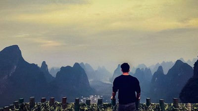 At the top of the world! China - Yangshuo