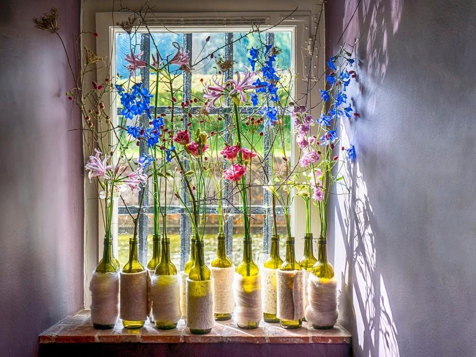 Photo taken at the 'Alde Bieze' Hasselt Belgium. Exposition of flowers in an ol...