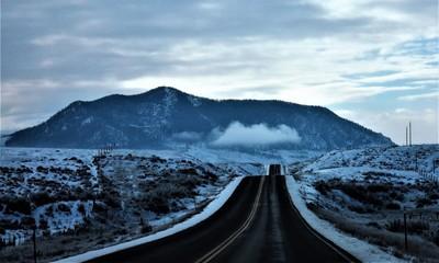 Lonely road in Colorado