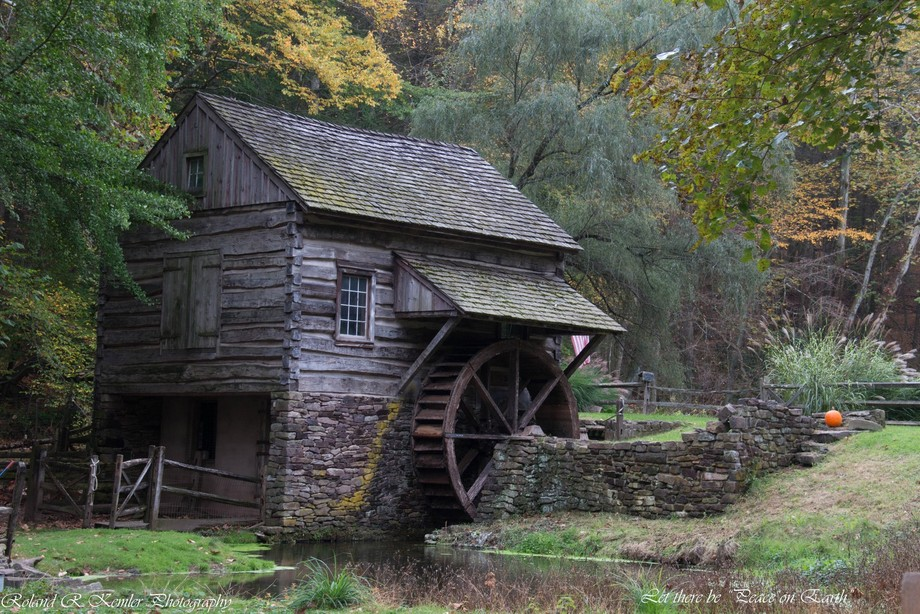 "Bromley Mill. Cuttalossa Farm. Lumbersville, Pa from my Let there be ""Peace on Earth series of photos"